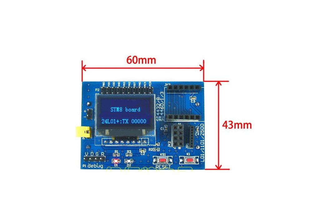 STM8 Development Board (for wireless modules) 1