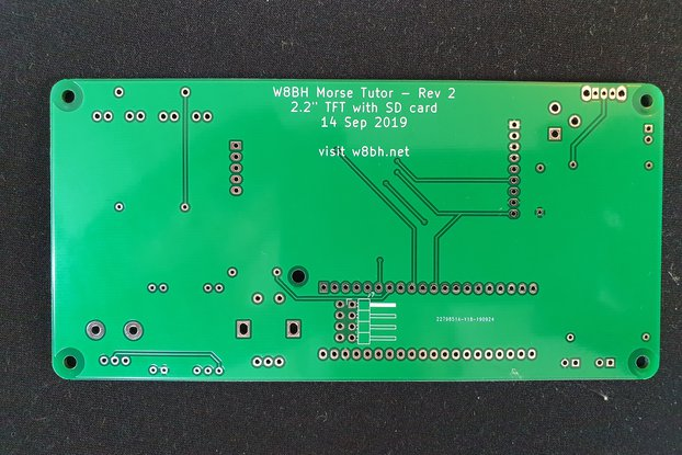 PCB for W8BH Morse Code Tutor