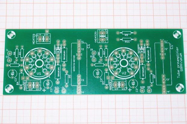 Universal PCB for tube pre SRPP/CCDA ECC88 ECC82
