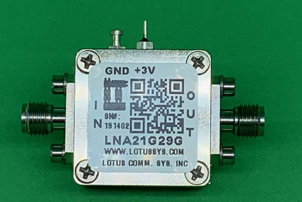 Amplifier LNA 2.5dB NF 21 - 29 GHz
