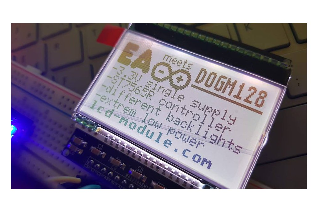 AE DOGM-128 Display holder, breadboard compatible 11