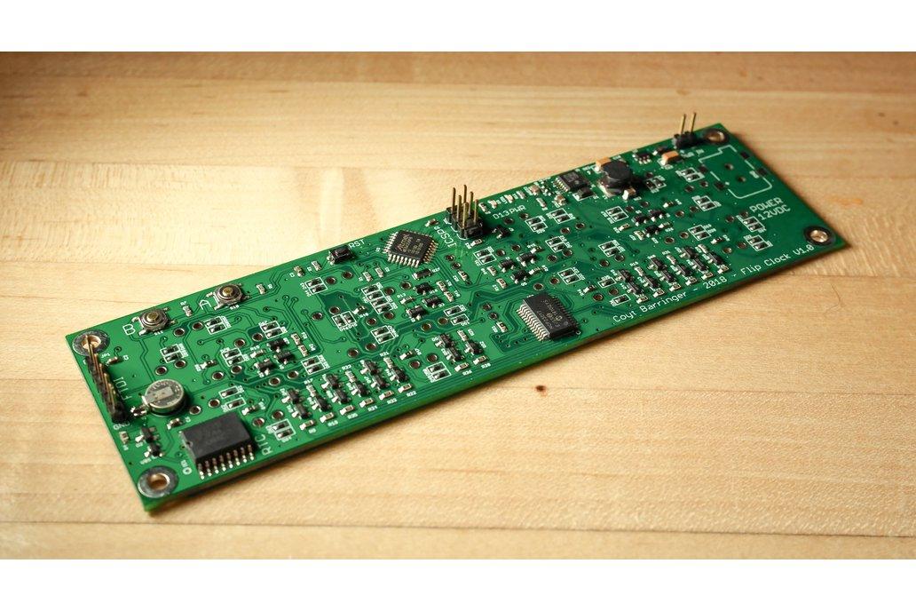 Electromechanical Flip Clock Assembled PCB 1