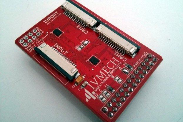 IVPort V2 Raspberry Pi Camera Multiplexer