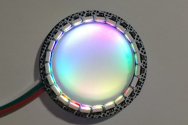 Inwards facing 24-LED ring