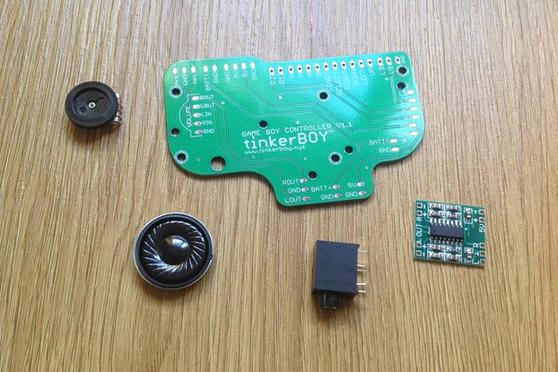 Game Boy Controller v1.1 PCB w/ accessories