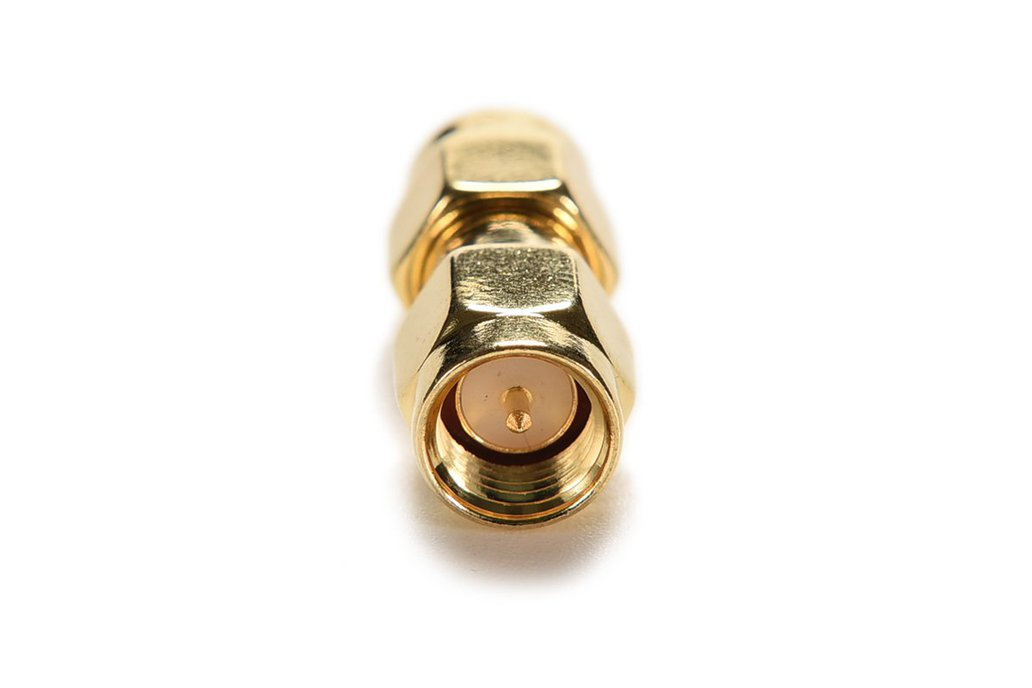 SMA Male to SMA Male Plug RF Adapter Straight Gold 2