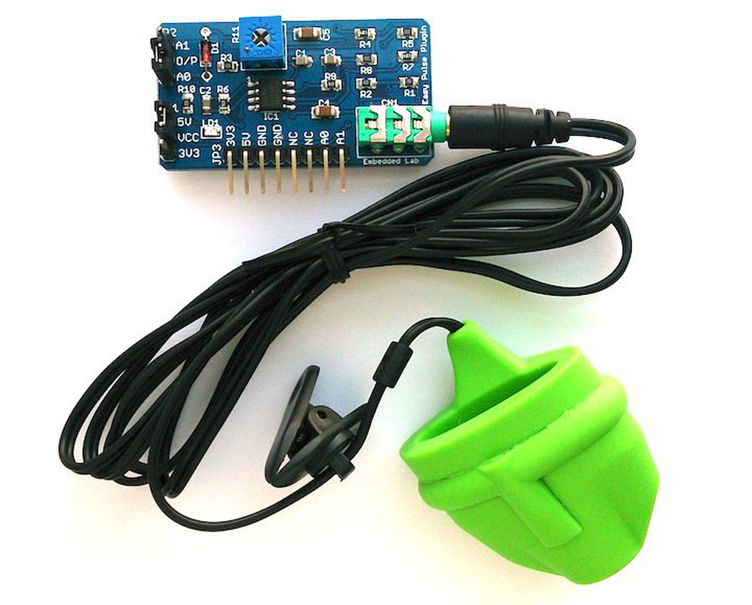 Easy pulse sensor based on photoplethysmography from Embedded Lab on