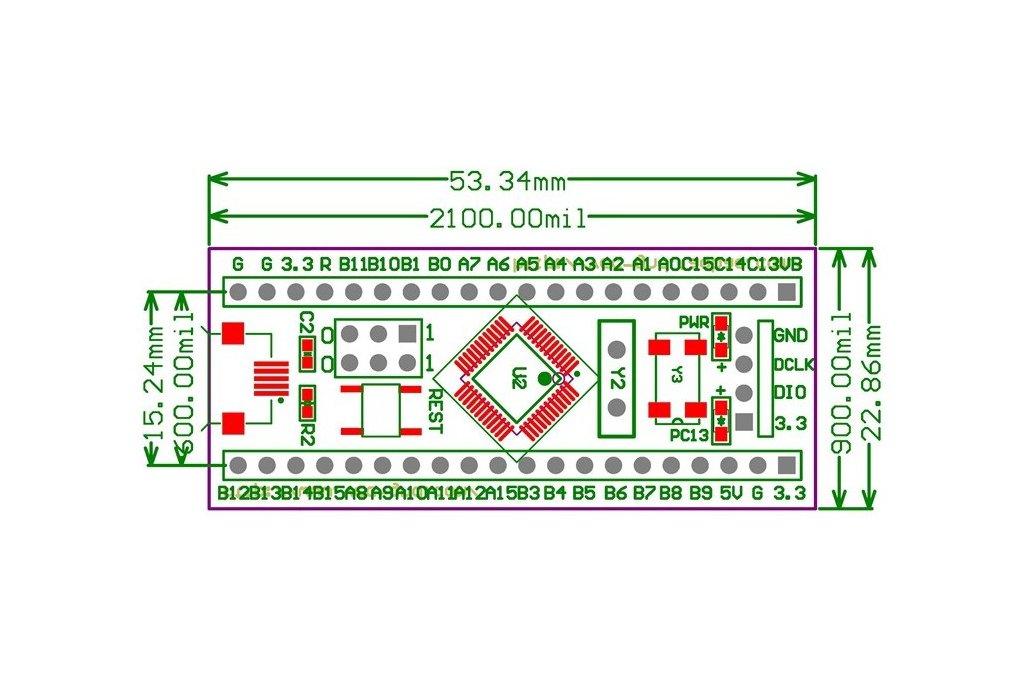 STM32F103C8T6 ARM STM32 Minimum Embedded System 4