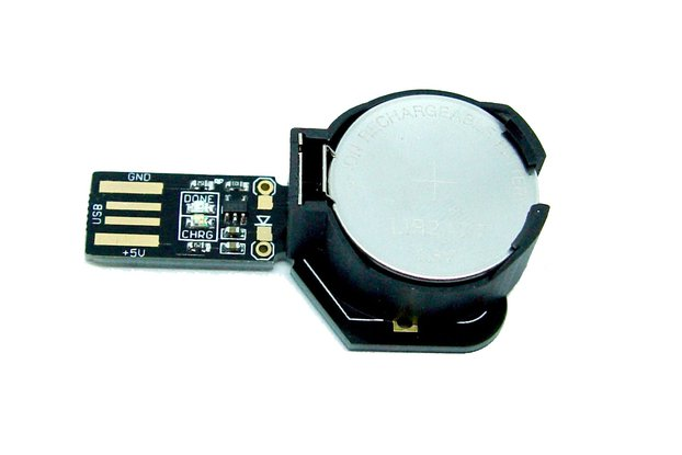 USB coin cell battery charger LIR2477