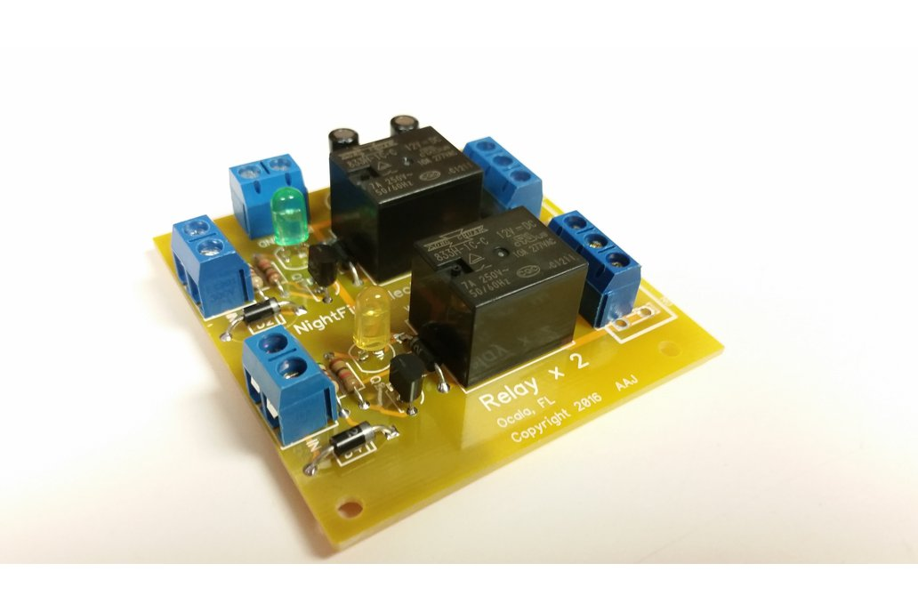 Dual Relay Module Kit - Selectable Coil Voltage 1