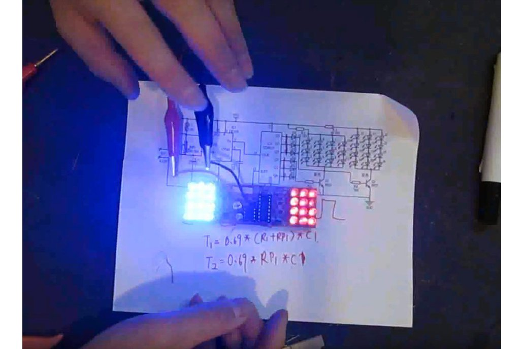 Red Blue Flashing Light DIY Kit(4986) 1