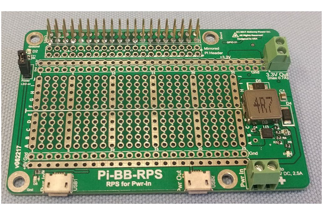 Pi-BB-RPS: DC-DC converter, RPS and more for Pi 1
