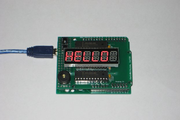 Arduino shield with alphanumeric LED display