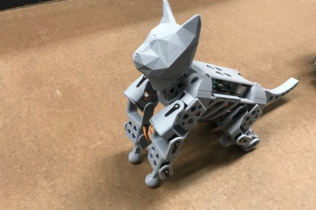 SmallKat: An dynamics oriented robot cat (Kit)
