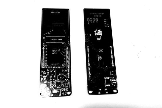 Dev board PCB ESP32-S2 TFT