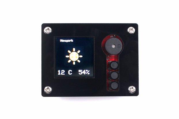 DIY ESP32 SmartClock Kit with Weather Forecasting