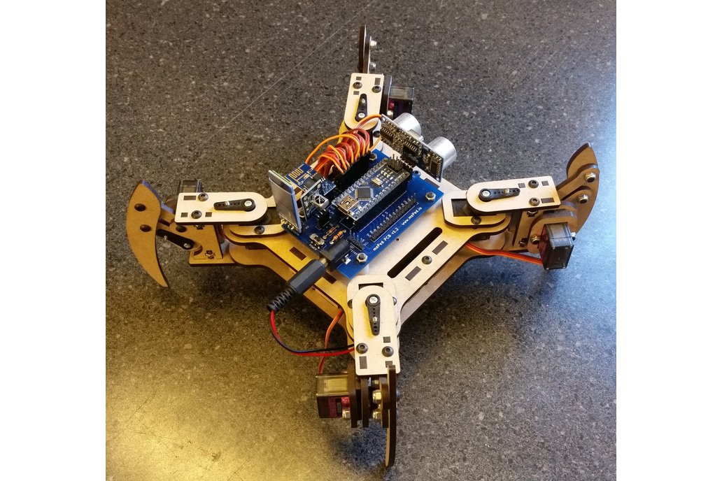 mePed v2 Quadruped Walking Robot - Complete Kit 4