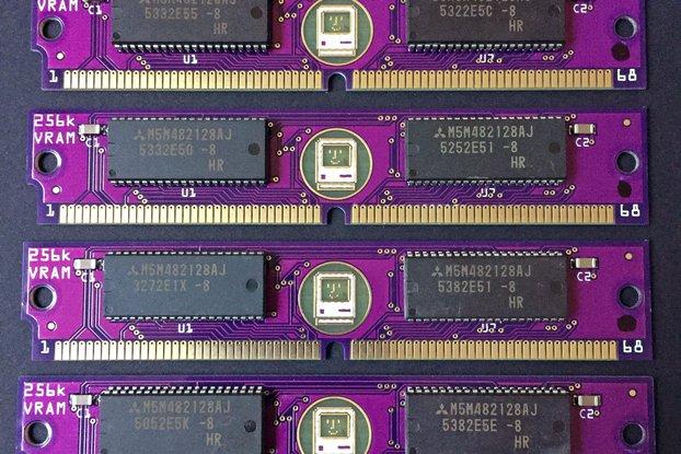 PurpleRAM 256kB 68-pin VRAM SIMM Macintosh