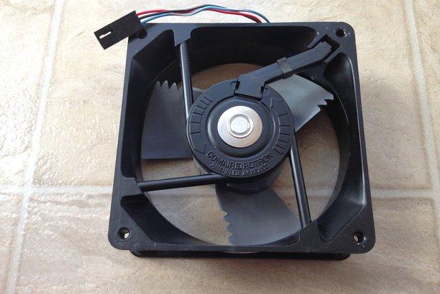 """48VDC  4.7""""x1.5"""" Brushless Fan (Creltek Surplus)"""