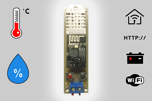 Low Power Temperature and Humidity WiFi tracker s1