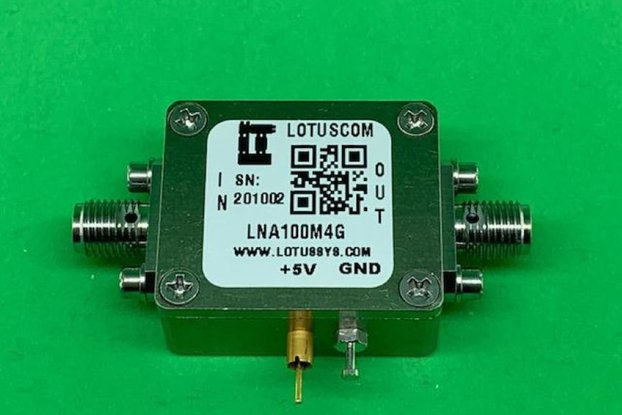Amplifier LNA 1.3dB NF 100MHz to 4GHz