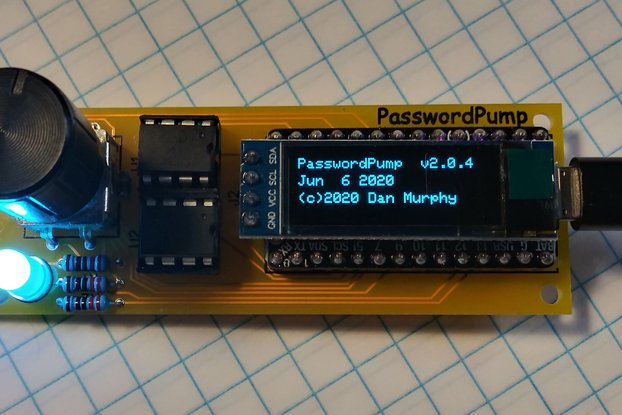 PasswordPump v2.0 with Rotary Encoder