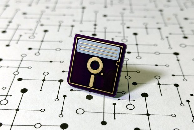 "5.25"" Floppy Disk PCB Lapel Pin"