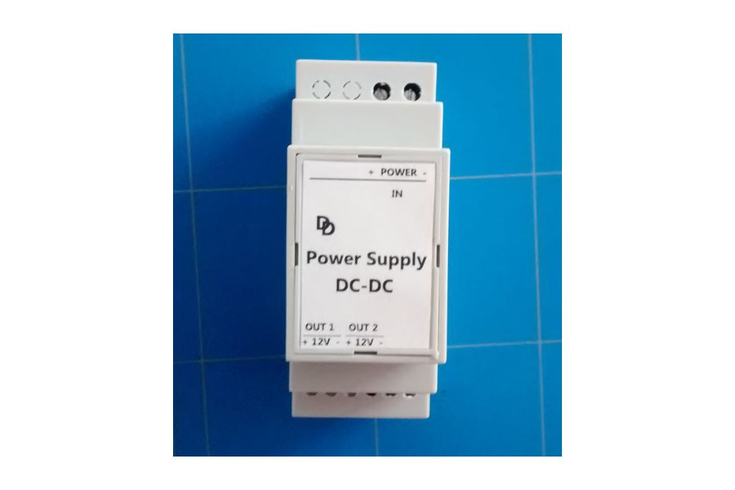 Universal DC-DC 12 Volt DIN-rail Power Supply. 1