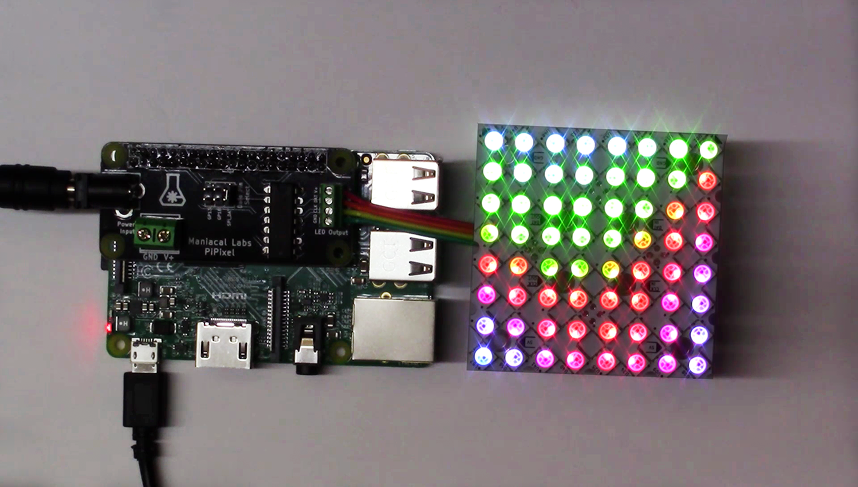 PiPixel - Raspberry Pi LED Strip HAT from Maniacal Labs on