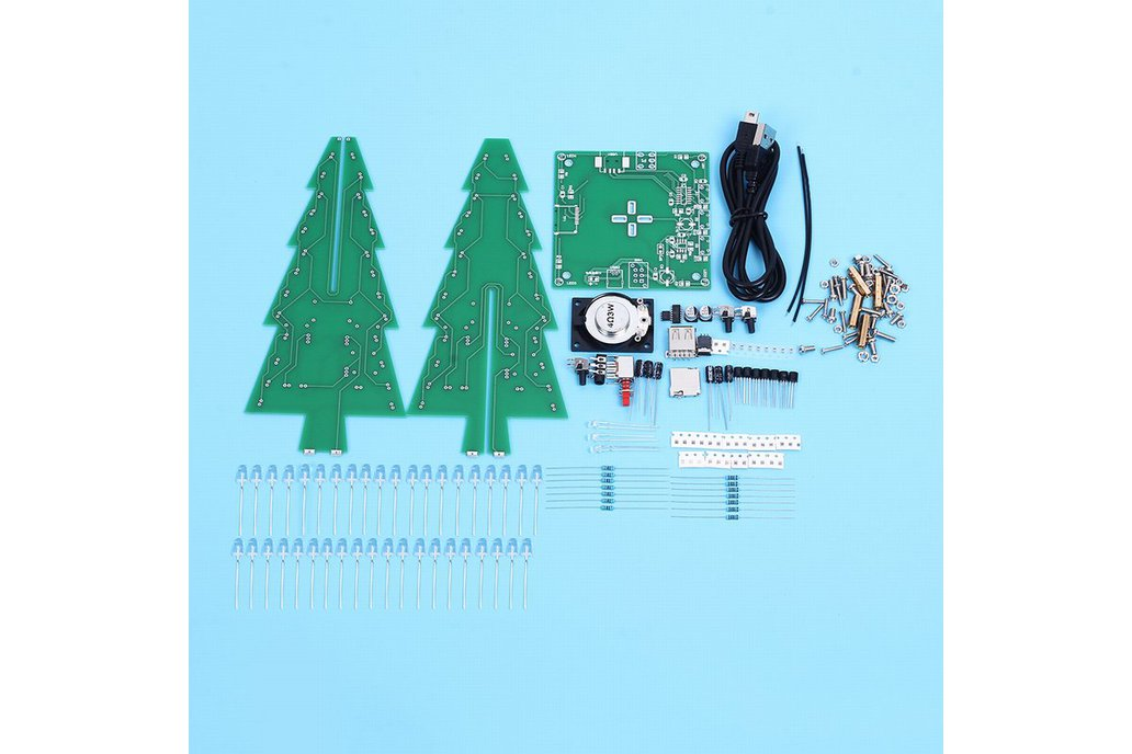 DIY Xmas Tree RGB Flash Light Support MP3(12368) 4