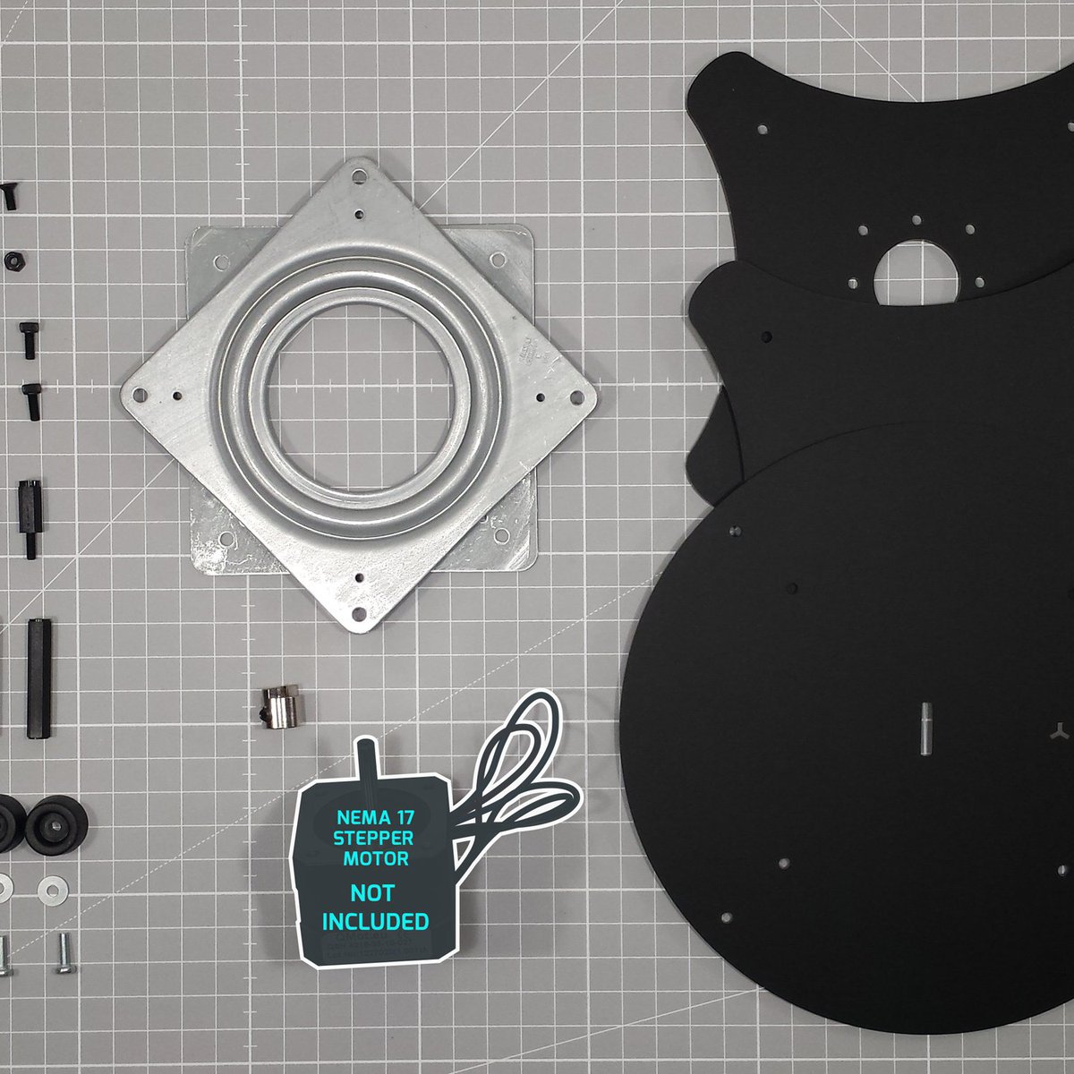 Turntable for Stepper Motor (Kit) from FluxGarage on Tindie