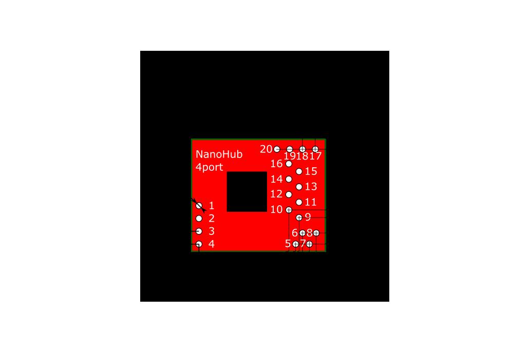 4-port NanoHub - tiny USB hub for hacking projects 4
