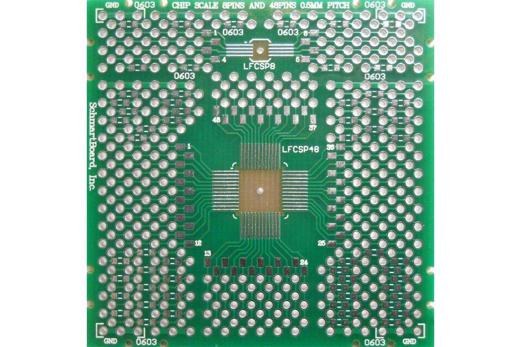 SchmartBoard|ez QFN/DFN 8-48 pin 0.5mm Pitch PCB 1