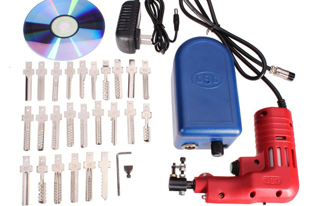 Electric 25 pins Lock Pick Gun Dimple Lock Bump