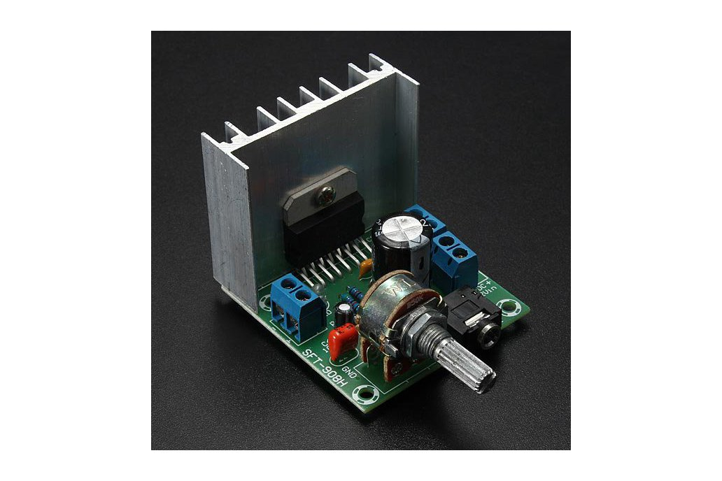 AC/DC 12V 2 x 15W TDA7297 Version B Digital Audio Amplifier Board Dual-Channel 1