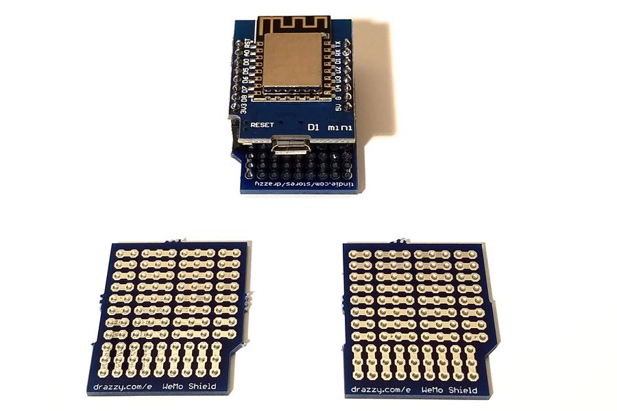 Prototyping Shield for WeMos D1 Mini (3/pk)