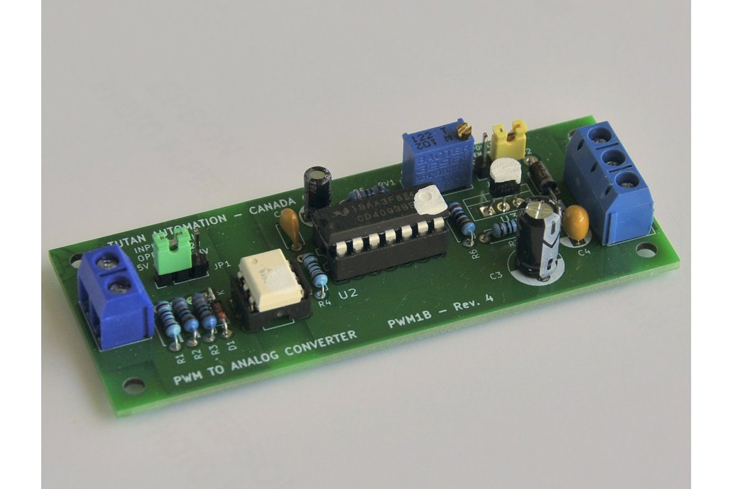 Isolated 1, 2 or 3 channel PWM to Analog Converter 1
