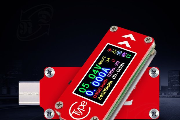 USB energy monitor OLED disp current voltage power