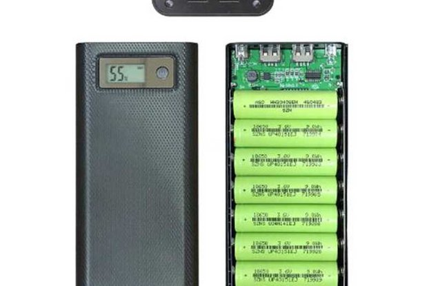8x18650 Battery Charger Box Power Bank Holder Case