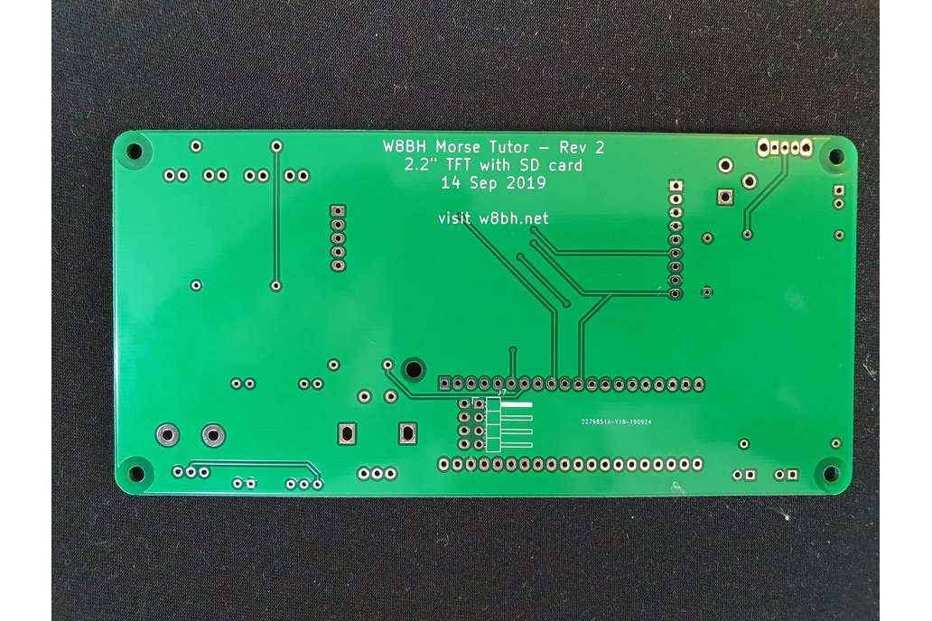 PCB for W8BH Morse Code Tutor 1