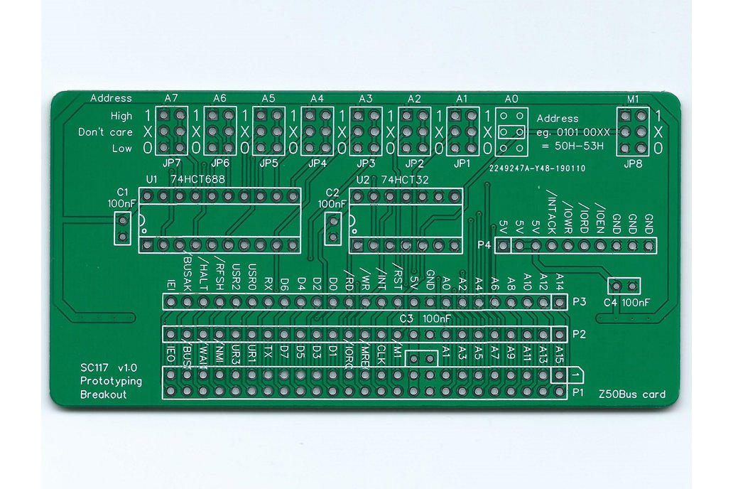 SC117 Prototyping Breakout Board for Z50Bus 1