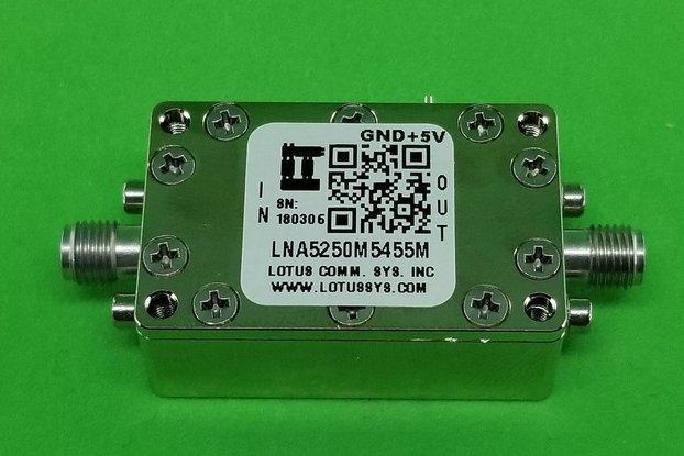 Amplifier LNA 0.85dB NF 5250M~5455 MHz