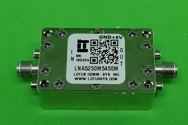 Amplifier LNA 0.85dB NF 5250M~5455 MHz
