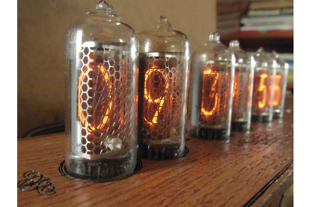 Vintage Nixie Clock On IN-8-2 Tubes In Wooden Case 3