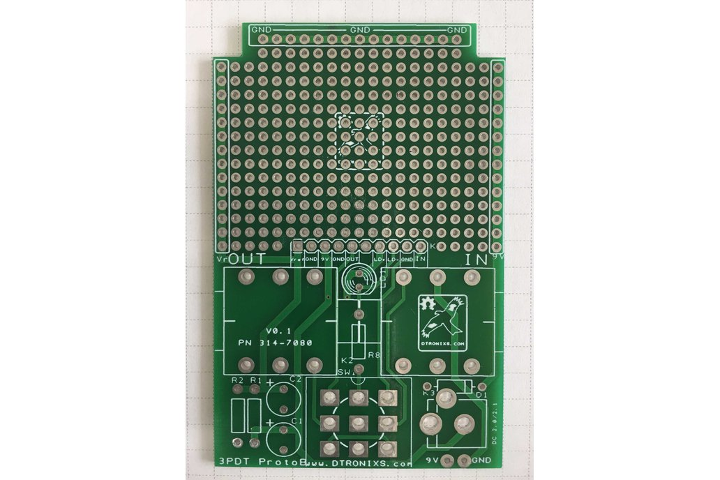 Guitar Effects/Stomp Box prototyping board 1590B 1