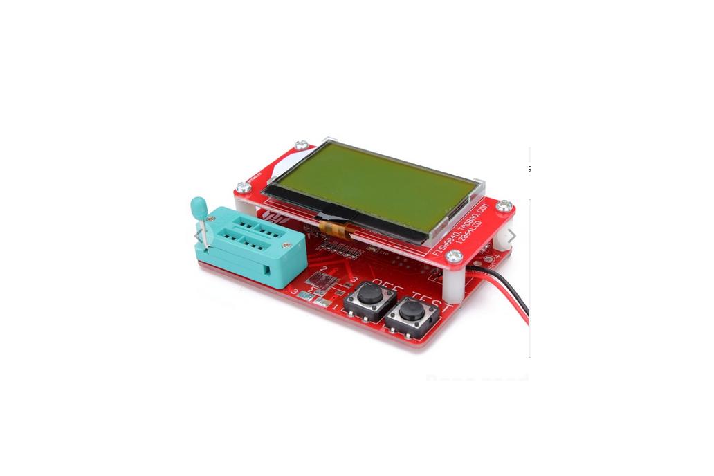 Small M8 12864 LCD MEGA328 Transistor Tester Capacitance ESR Meter Diode Triode MOS/PNP/NPN LCR 1