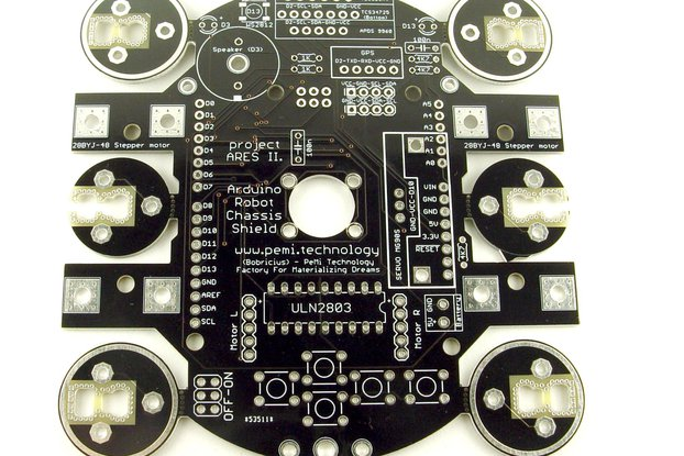 Arduino chassis shield robot base - Bare PCB KIT