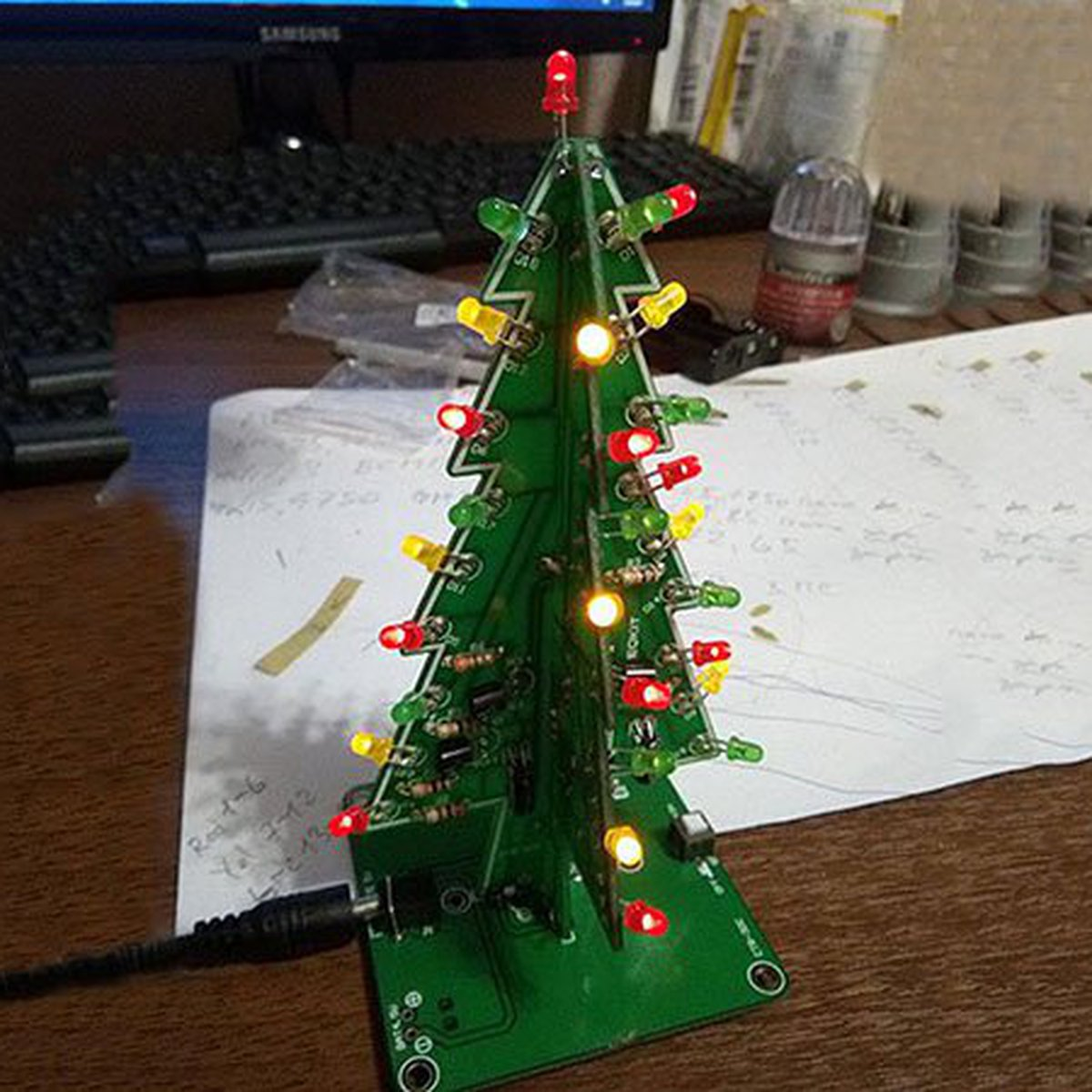 DIY Flashing LED Christmas Tree Circuit Kit(7212) from ... on christmas tree light repair gun, christmas tree light circuit, christmas lights series diagram, christmas tree light battery, christmas light schematic, christmas tree light remote control, christmas tree light switch, christmas tree light sensor, christmas tree lighting diagram, christmas tree light connectors, car kill switch diagram, led christmas light diagram, christmas tree outline, christmas tree light fuse, christmas tree template, christmas tree light timer, christmas tree light frame, christmas tree light installation, christmas tree light tester walmart, christmas light string wiring,