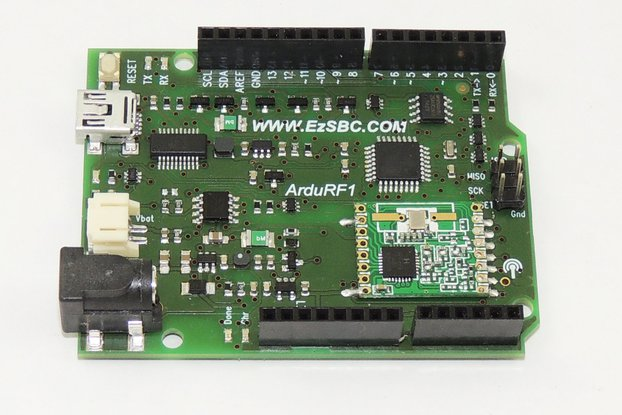 ArduRF1 Arduino with  RF-link and Battery Charger