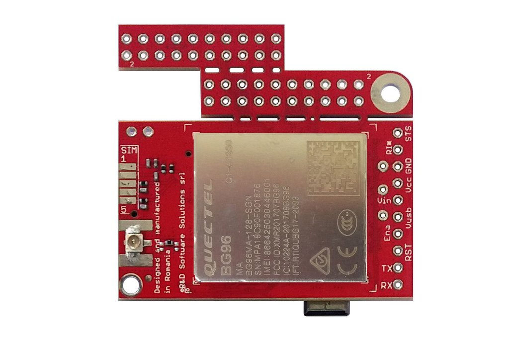 u-GSM w. BG96 - LTE CATM1, NBIOT, 2G modem + GNSS 1